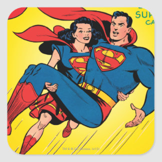 Superhombre #57 pegatina cuadrada