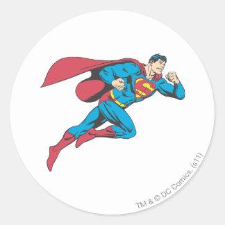 Superhombre 64 pegatina redonda