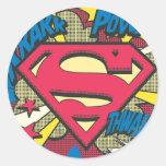 Superhombre 66 etiquetas redondas