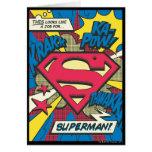 Superhombre 66 tarjeta de felicitación