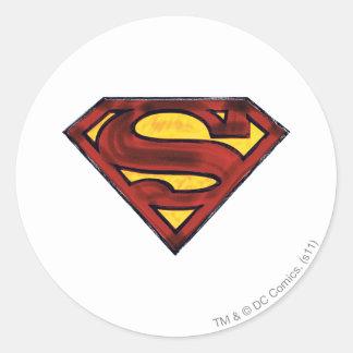 Superhombre 67 etiquetas redondas