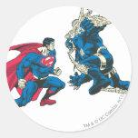 Superhombre 6 pegatina redonda
