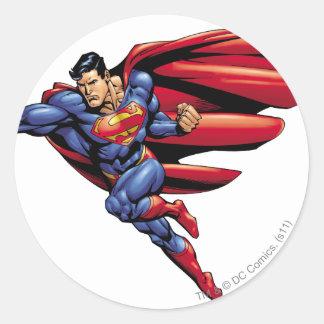 Superhombre 73 pegatina redonda