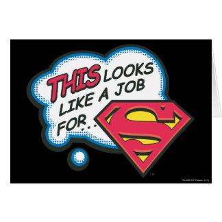 Superhombre 74 tarjeta de felicitación