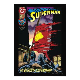 Superhombre #75 1993 invitaciones personalizada