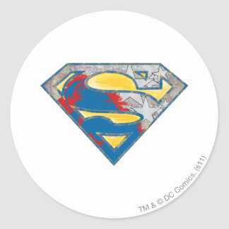 Superhombre 84 pegatina redonda