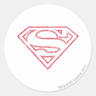 Superhombre 8 pegatina redonda