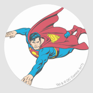 Superhombre 90 pegatina redonda