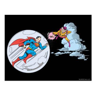 Superhombre atrapado en burbuja tarjeta postal