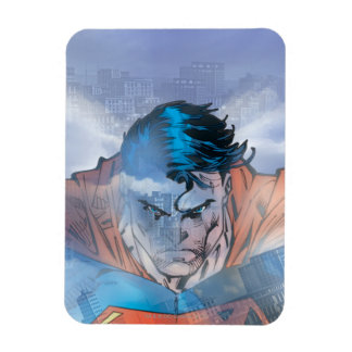 Superhombre - azul imanes rectangulares