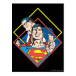 Superhombre/Clark Kent Tarjeta Postal