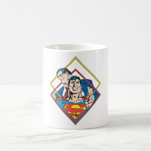 Superhombre/Clark Kent Taza Básica Blanca