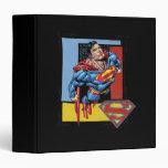 """Superhombre con el fondo colorido carpeta 1 1/2"""""""