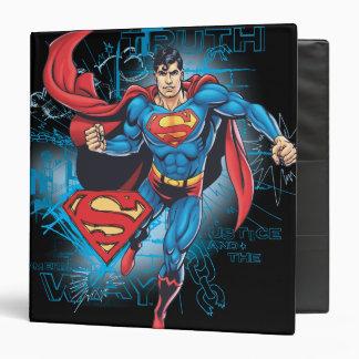 """Superhombre con el logotipo carpeta 1 1/2"""""""