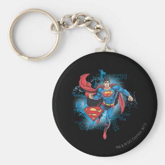 Superhombre con el logotipo llavero