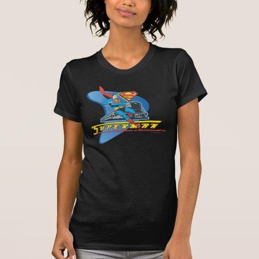 Superhombre con el tren - color camiseta