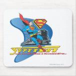 Superhombre con el tren - color alfombrillas de raton