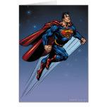 Superhombre contra el cielo nocturno tarjetas