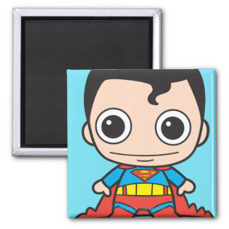 Superhombre de Chibi Imán Cuadrado
