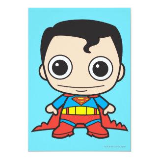 Superhombre de Chibi Invitación 12,7 X 17,8 Cm