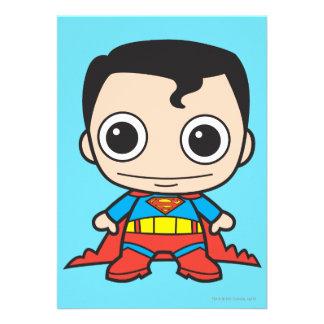 Superhombre de Chibi Invitaciones Personalizada