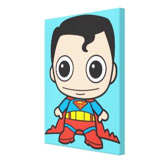 Superhombre de Chibi Lona Envuelta Para Galerías