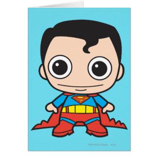 Superhombre de Chibi Tarjeta De Felicitación