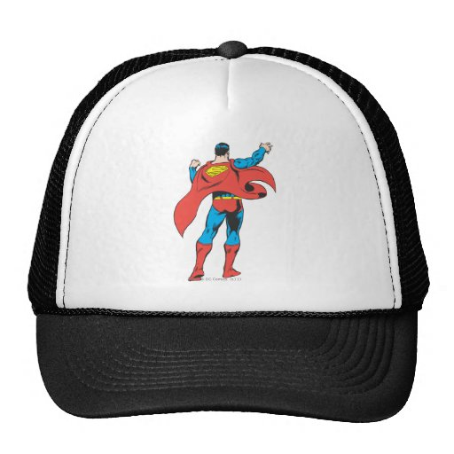 Superhombre de detrás gorros