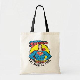 Superhombre el hombre de acero bolsa tela barata
