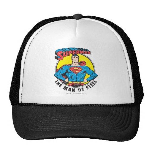 Superhombre el hombre de acero gorros