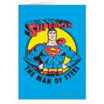 Superhombre el hombre de acero tarjetón