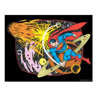 Superhombre en espacio postal