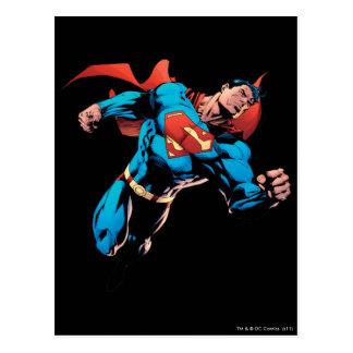 Superhombre en juego tarjetas postales