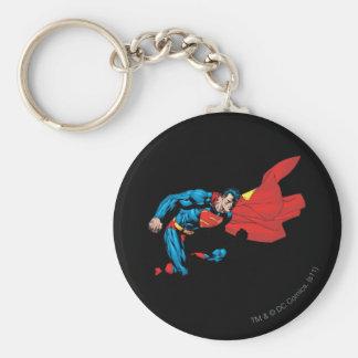 Superhombre en la sombra 2 llavero redondo tipo pin