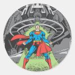 Superhombre expuesto a Kryptonite Etiqueta Redonda
