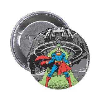 Superhombre expuesto a Kryptonite Pin Redondo De 2 Pulgadas