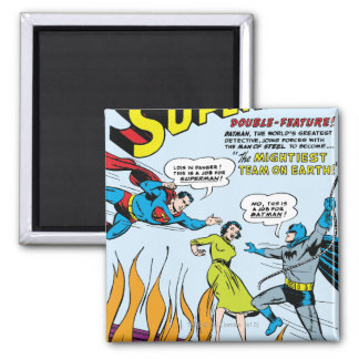 Superhombre (función doble con Batman) Imán Cuadrado