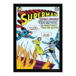 "Superhombre (función doble con Batman) Invitación 5"" X 7"""