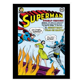 Superhombre función doble con Batman Postales