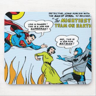 Superhombre (función doble con Batman) Tapete De Ratones
