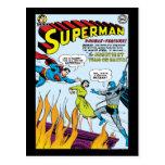 Superhombre (función doble con Batman) Tarjeta Postal