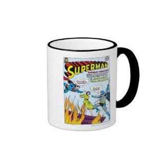 Superhombre (función doble con Batman) Taza De Dos Colores