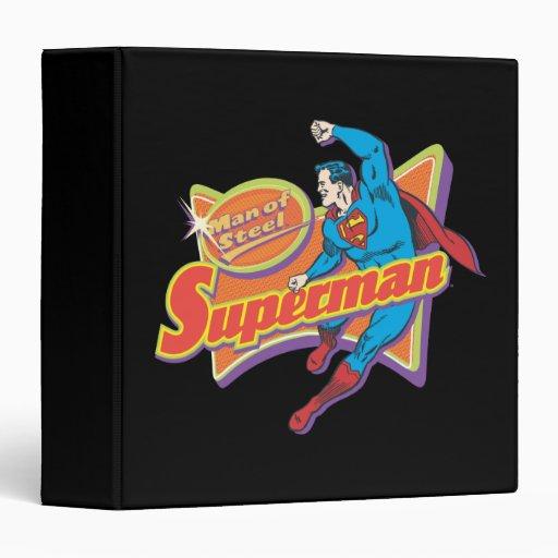 "Superhombre - hombre de acero carpeta 1 1/2"""