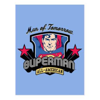 Superhombre - hombre de mañana postal