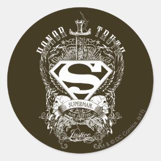Superhombre - honor, verdad pegatina redonda