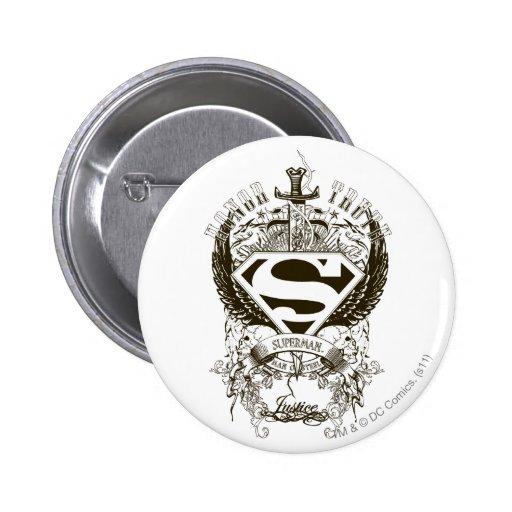 Superhombre - honor, verdad pins