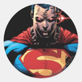 Superhombre - laser Vision Pegatina Redonda