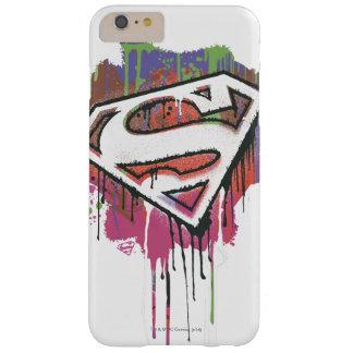 Superhombre - logotipo torcido de la inocencia funda de iPhone 6 plus barely there