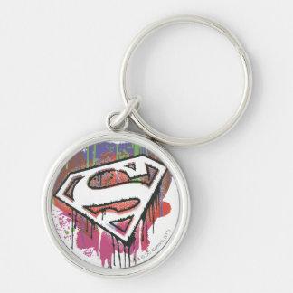 Superhombre - logotipo torcido de la inocencia llaveros personalizados