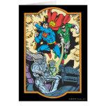Superhombre + Lucha Brainiac del petirrojo Felicitacion